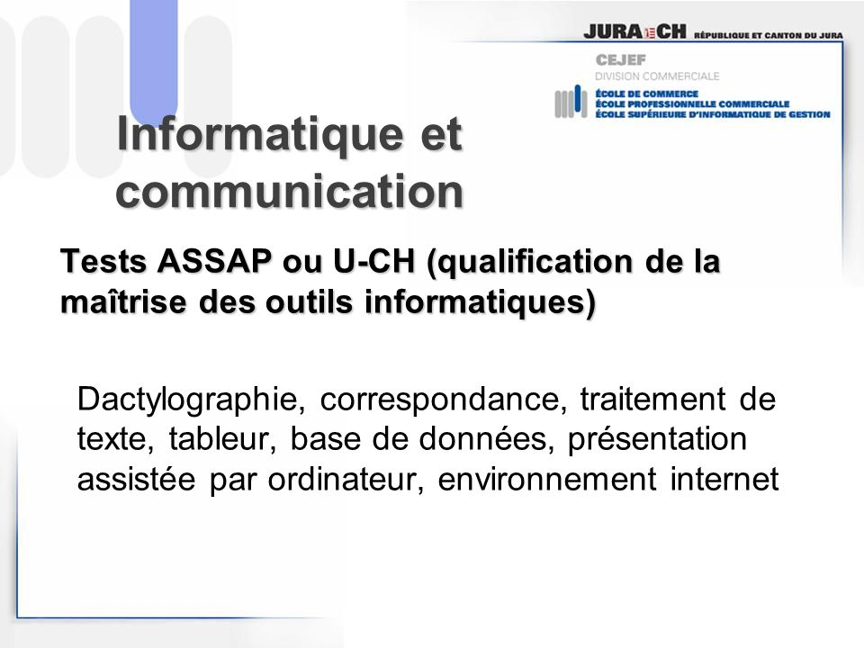 Informatique et communication