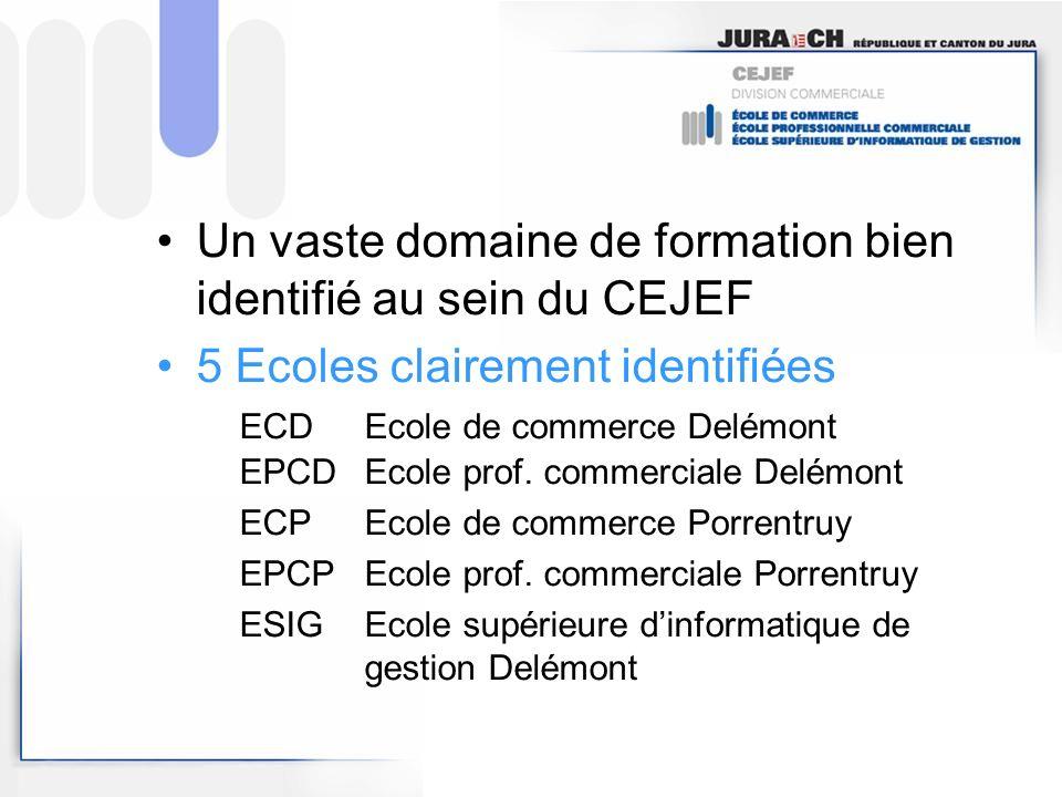 Un vaste domaine de formation bien identifié au sein du CEJEF