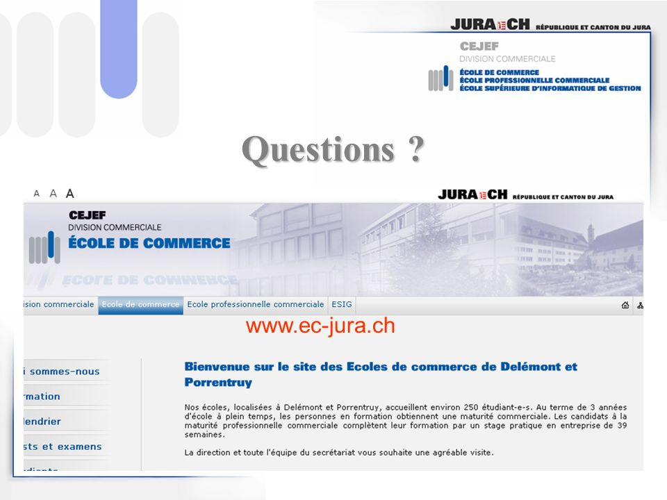 Questions www.ec-jura.ch