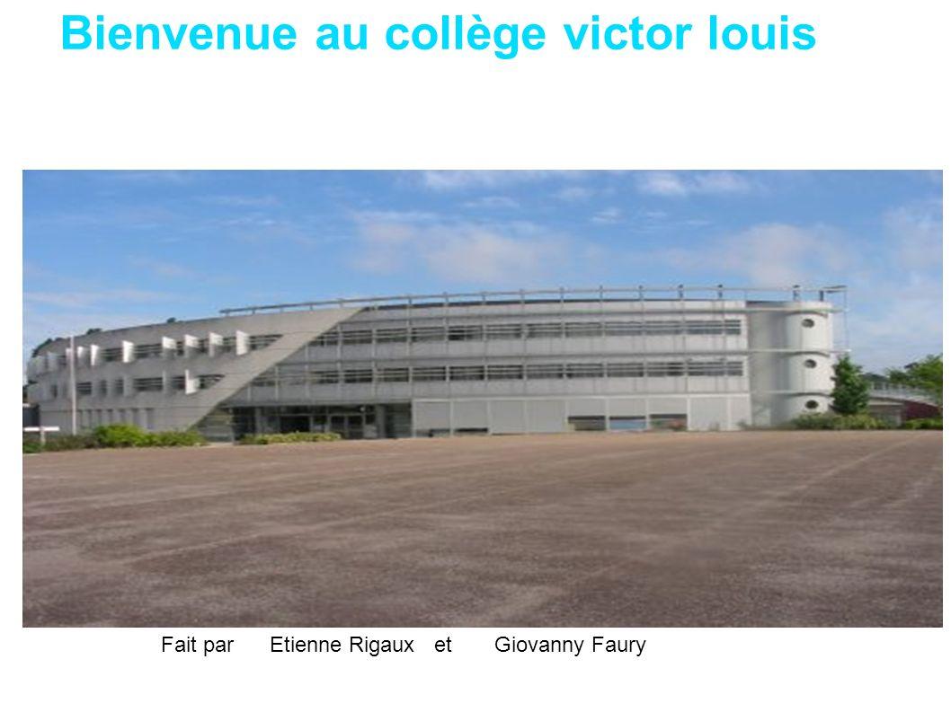 Bienvenue au collège victor louis