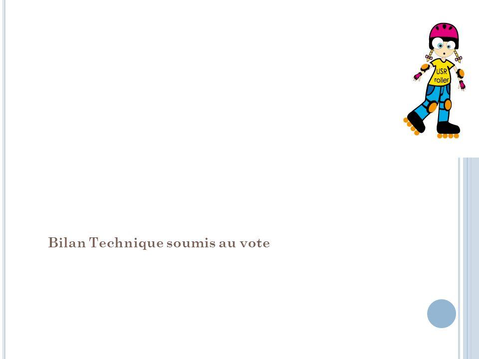 Bilan Technique soumis au vote