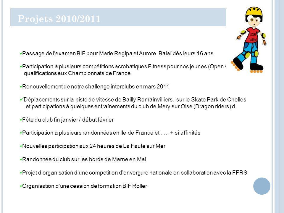 Projets 2010/2011 Passage de l'examen BIF pour Marie Regipa et Aurore Balaï dès leurs 16 ans.