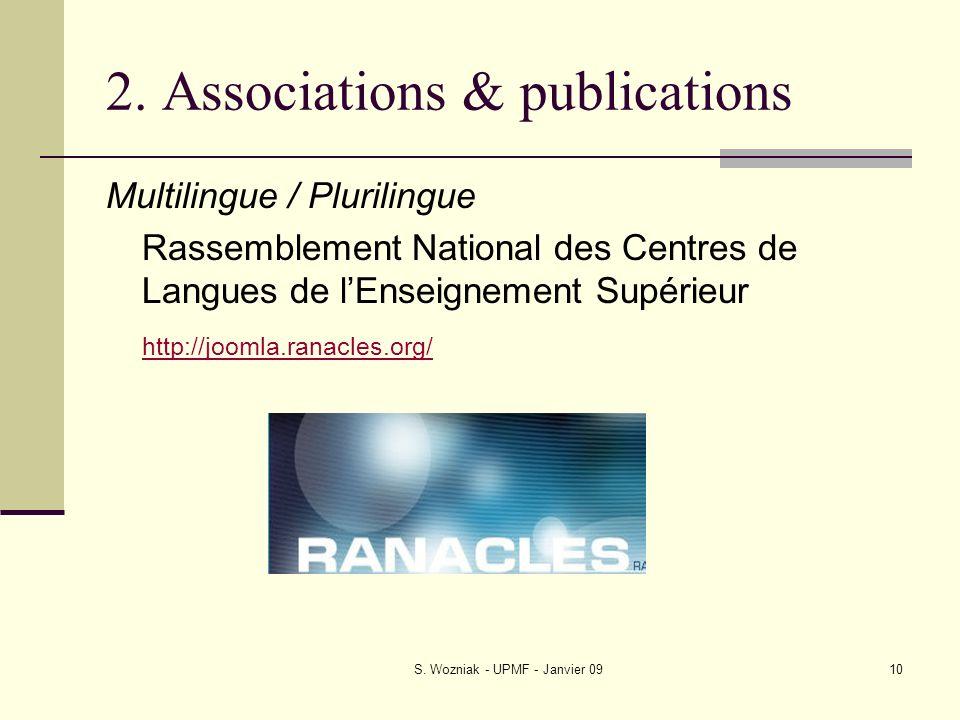 2. Associations & publications