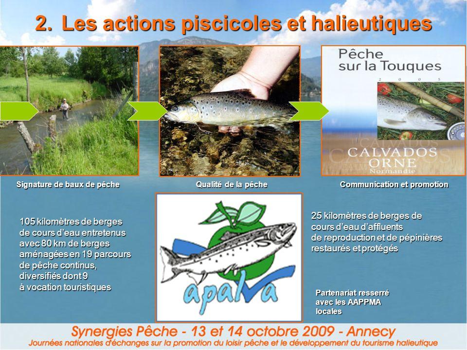 Les actions piscicoles et halieutiques