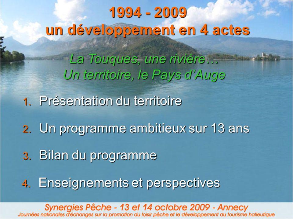 1994 - 2009 un développement en 4 actes