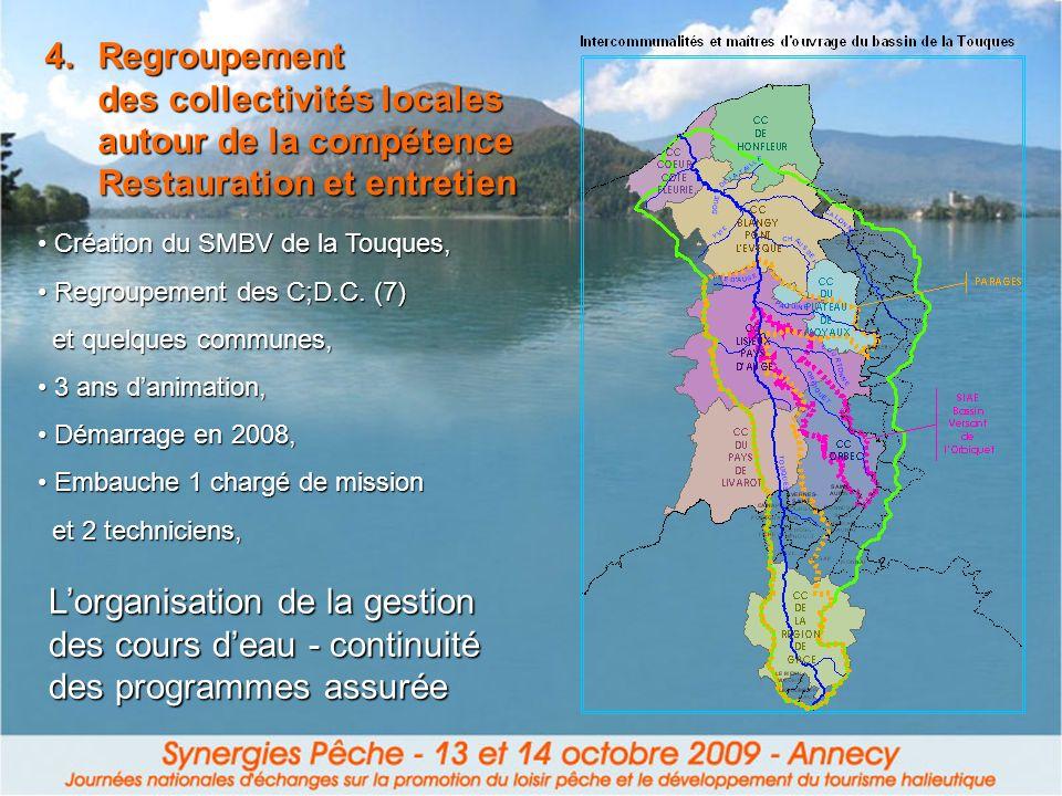 Regroupement des collectivités locales autour de la compétence Restauration et entretien