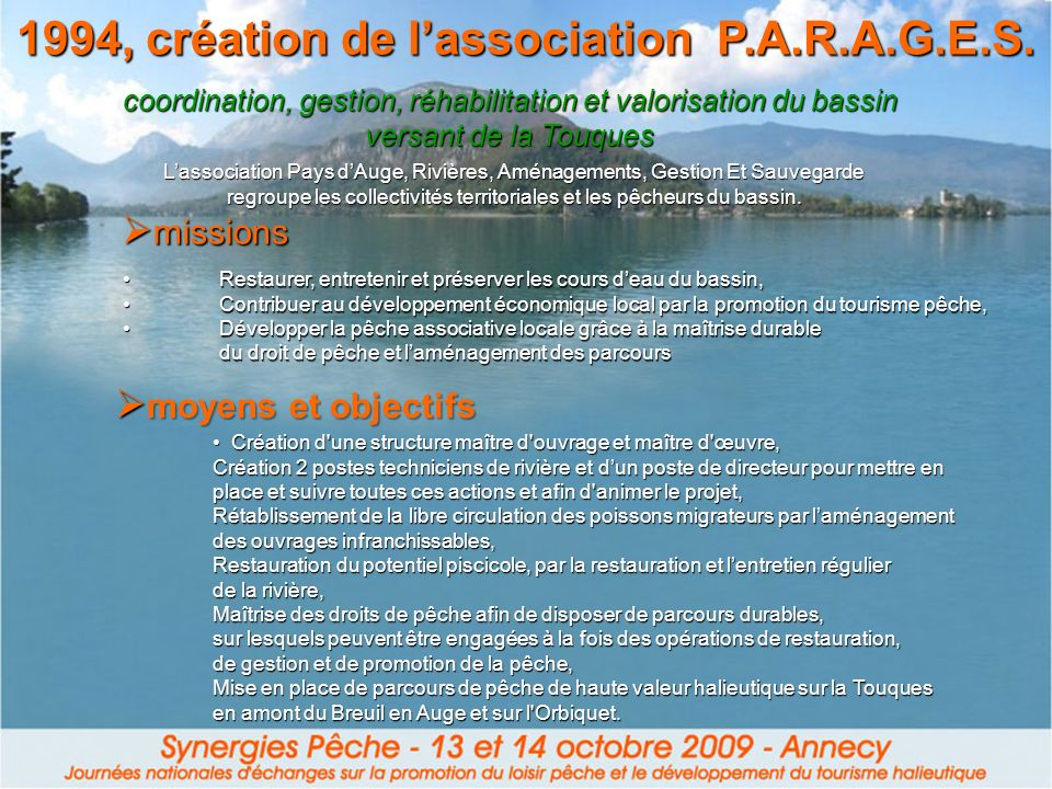 1994, création de l'association P.A.R.A.G.E.S.