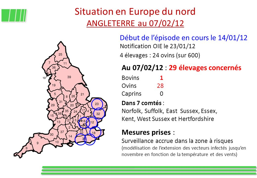 Situation en Europe du nord ANGLETERRE au 07/02/12