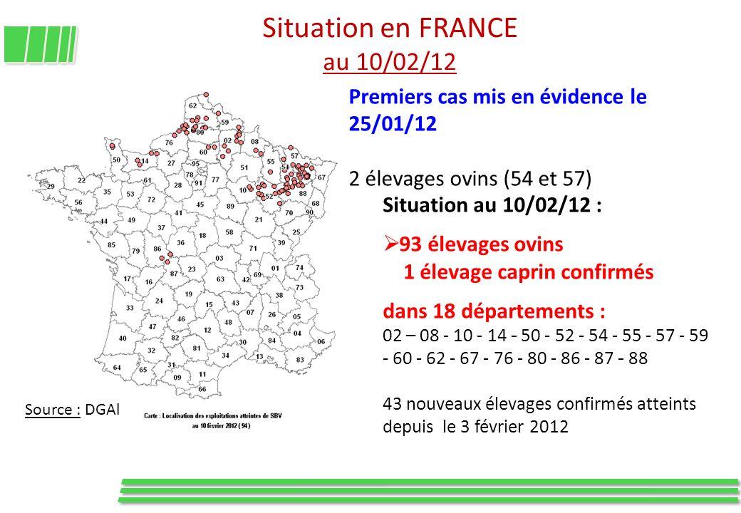 Situation en FRANCE au 10/02/12