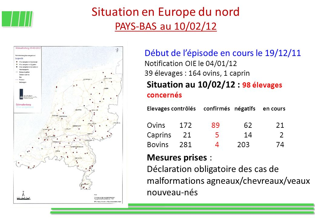 Situation en Europe du nord PAYS-BAS au 10/02/12