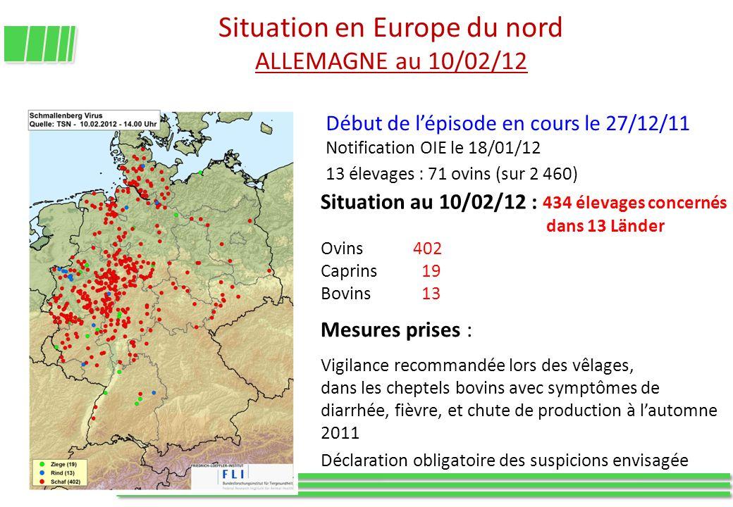 Situation en Europe du nord ALLEMAGNE au 10/02/12