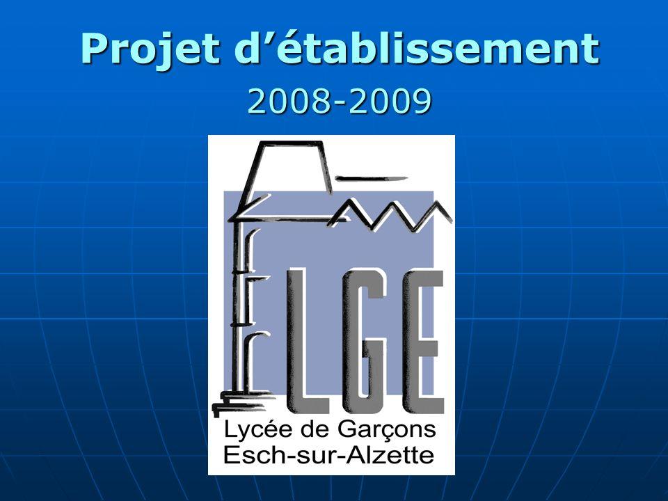 Projet d'établissement 2008-2009