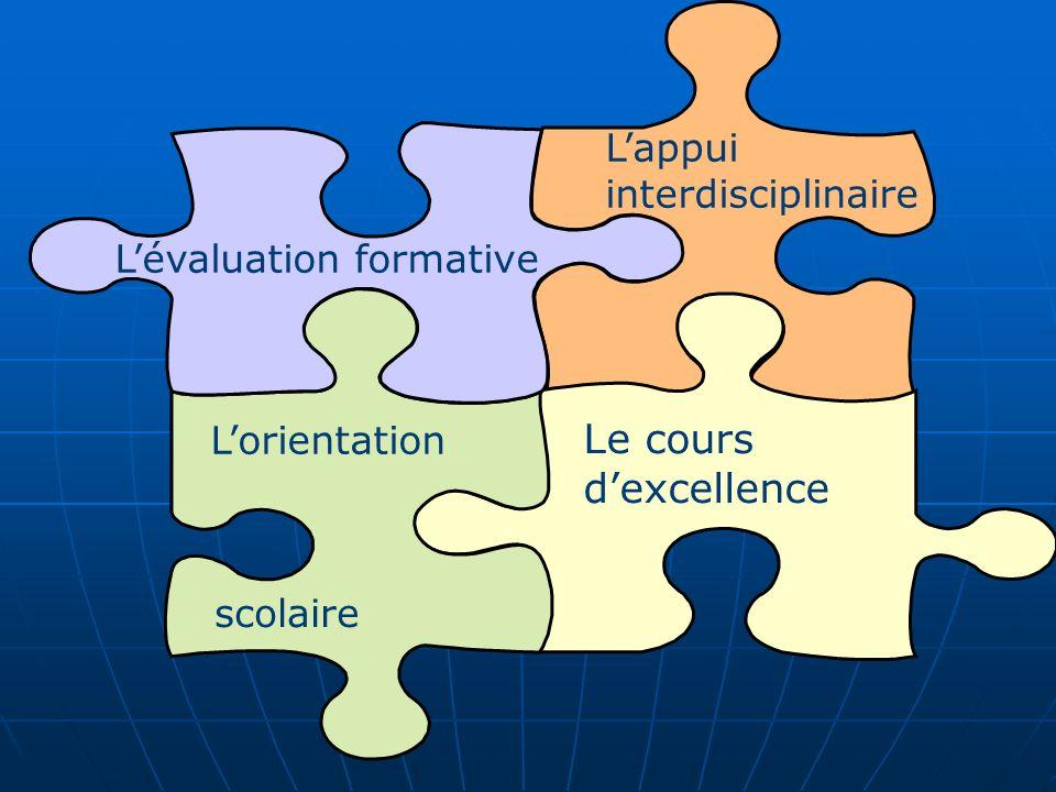 Le cours d'excellence L'appui interdisciplinaire
