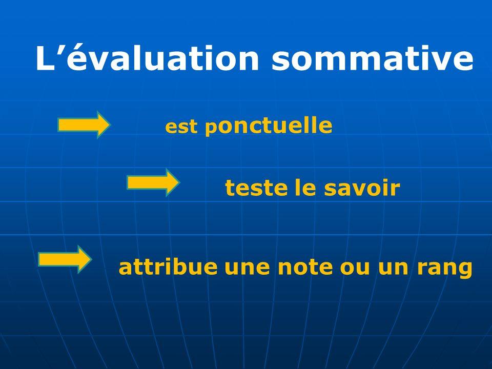 L'évaluation sommative