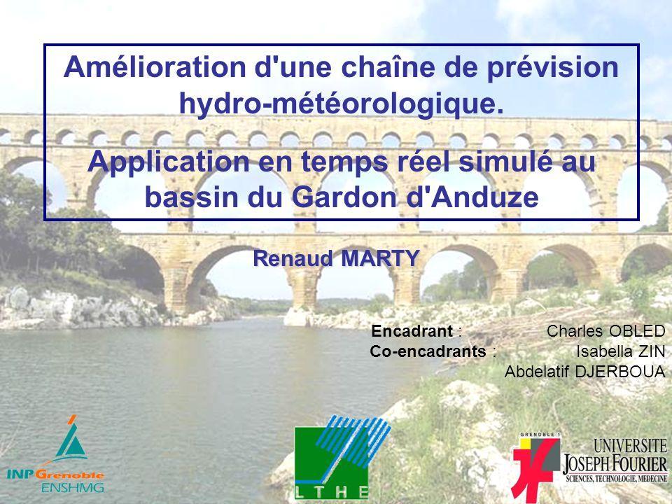 Amélioration d une chaîne de prévision hydro-météorologique.