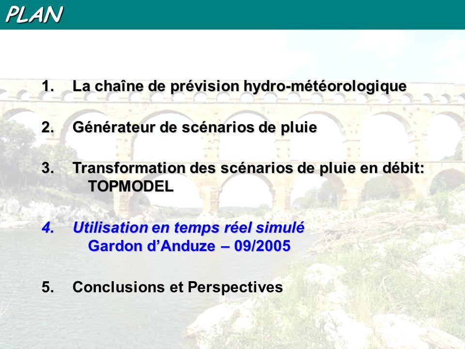 PLAN La chaîne de prévision hydro-météorologique
