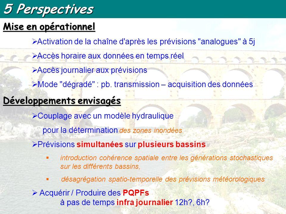 5 Perspectives Mise en opérationnel Développements envisagés
