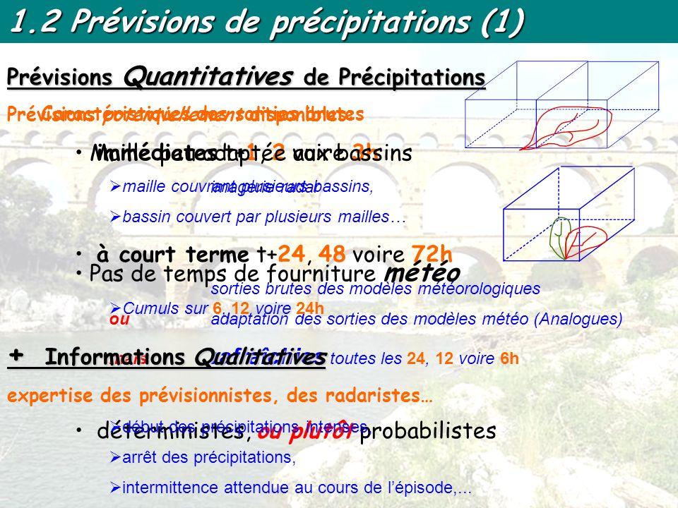 1.2 Prévisions de précipitations (1)