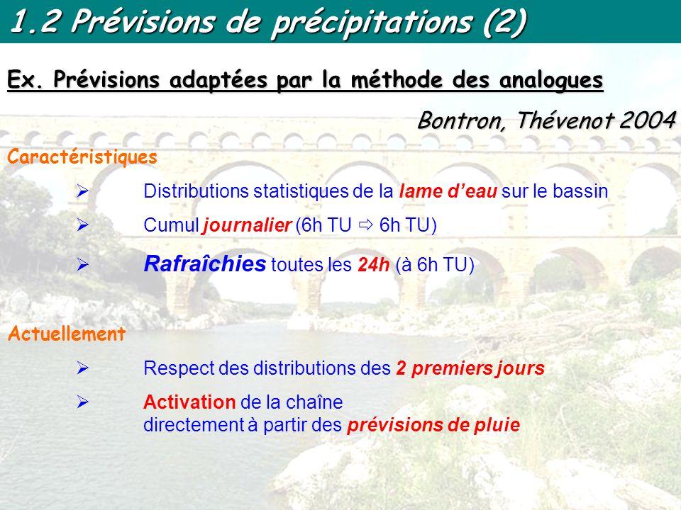 1.2 Prévisions de précipitations (2)