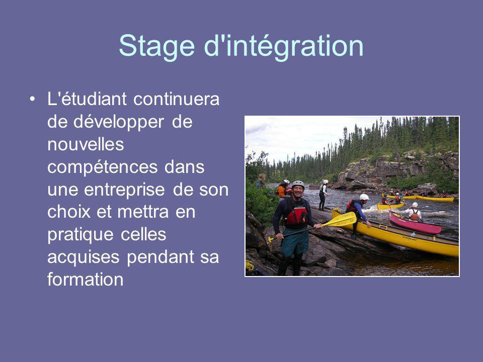 Stage d intégration