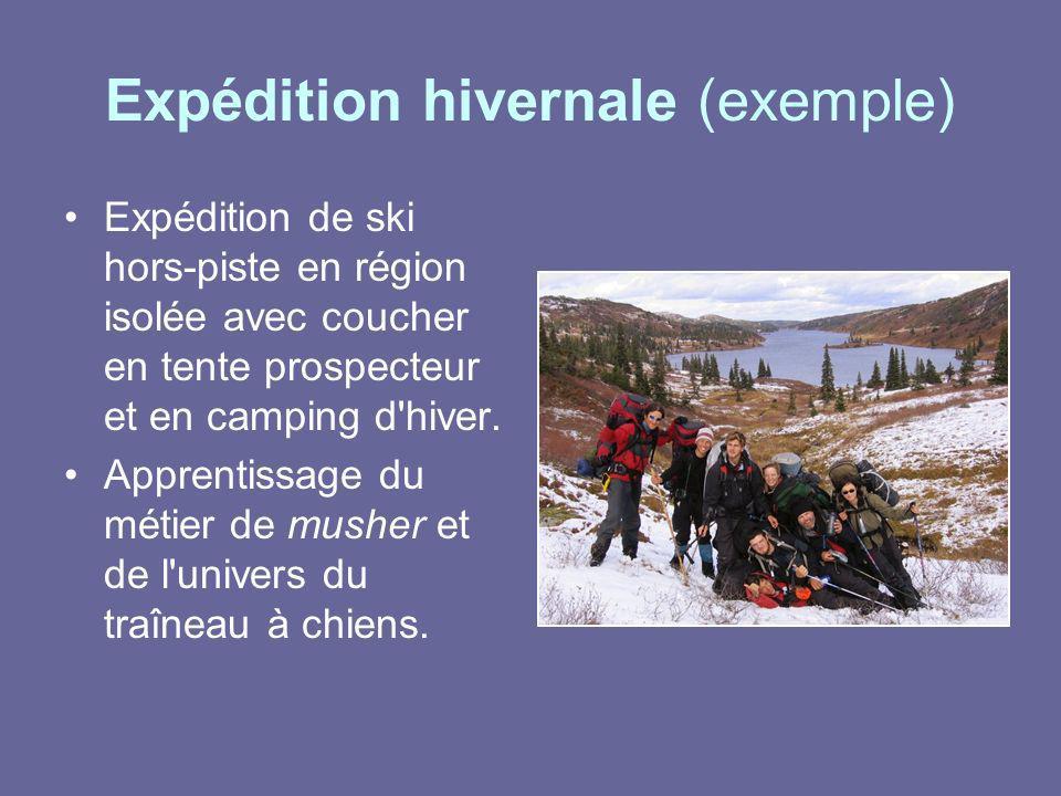 Expédition hivernale (exemple)