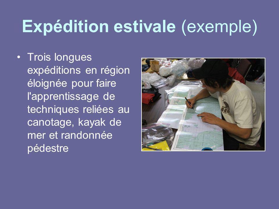 Expédition estivale (exemple)