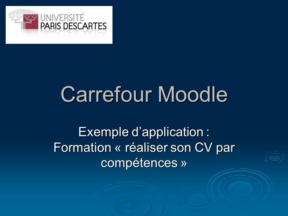 Exemple d'application : Formation « réaliser son CV par compétences »