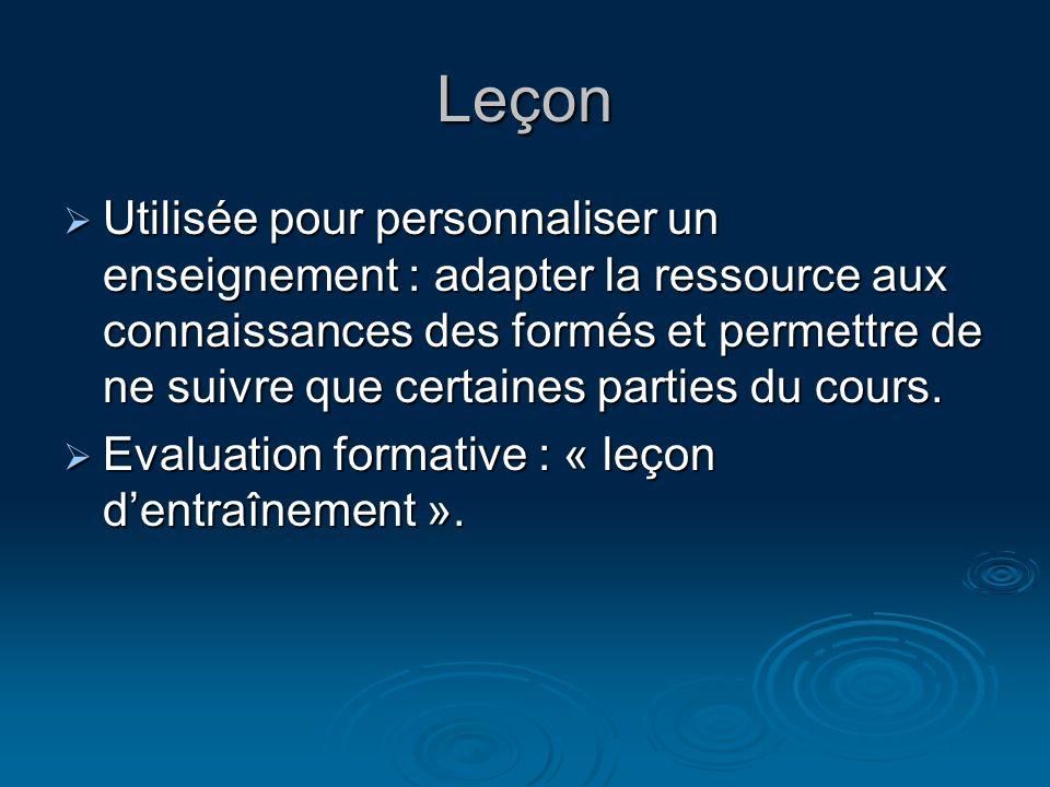 Leçon