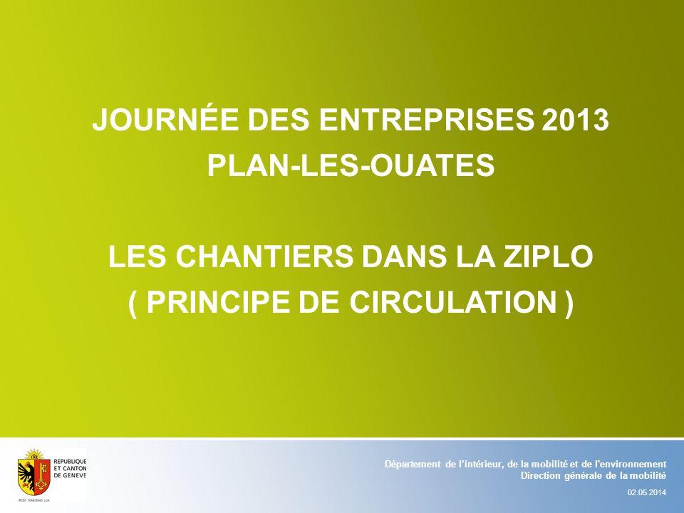 Journée des entreprises 2013 Plan-les-ouates Les chantiers dans la ziplo ( principe de circulation )