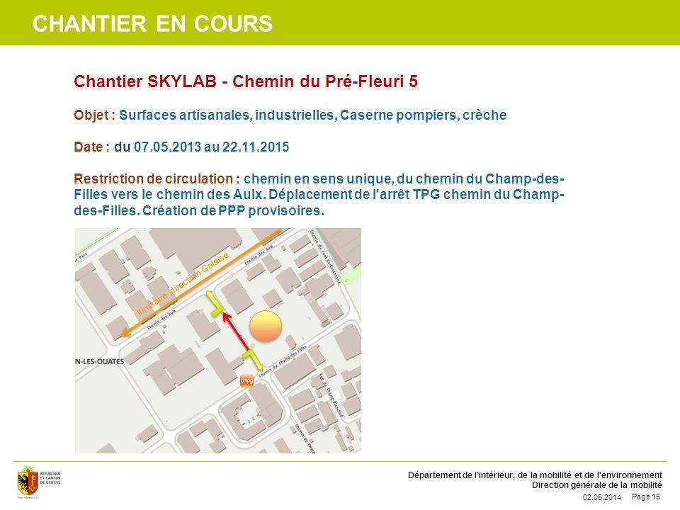 Chantier en cours Chantier SKYLAB - Chemin du Pré-Fleuri 5