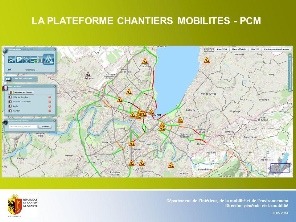 LA PLATEFORME CHANTIERS MOBILITES - PCM
