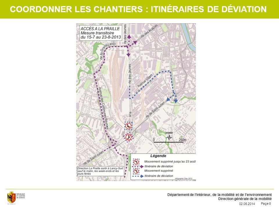 Coordonner les chantiers : itinéraires de déviation