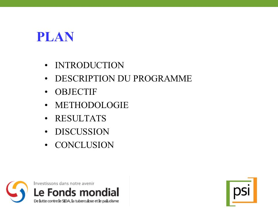 PLAN INTRODUCTION DESCRIPTION DU PROGRAMME OBJECTIF METHODOLOGIE