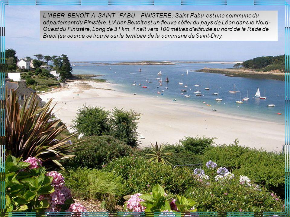 L 'ABER BENOÎT A SAINT - PABU – FINISTERE : Saint-Pabu est une commune du département du Finistère.