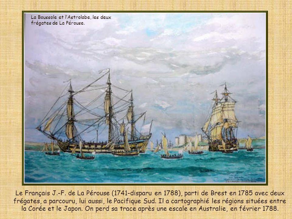 La Boussole et l'Astrolabe, les deux frégates de La Pérouse.