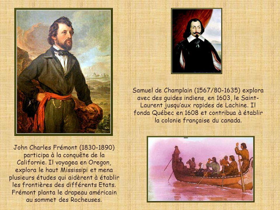 Samuel de Champlain (1567/80-1635) explora avec des guides indiens, en 1603, le Saint-Laurent jusqu'aux rapides de Lachine. Il fonda Québec en 1608 et contribua à établir la colonie française du canada.
