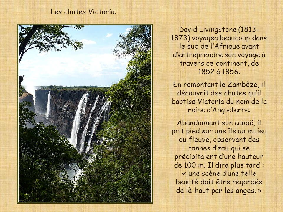 Les chutes Victoria.