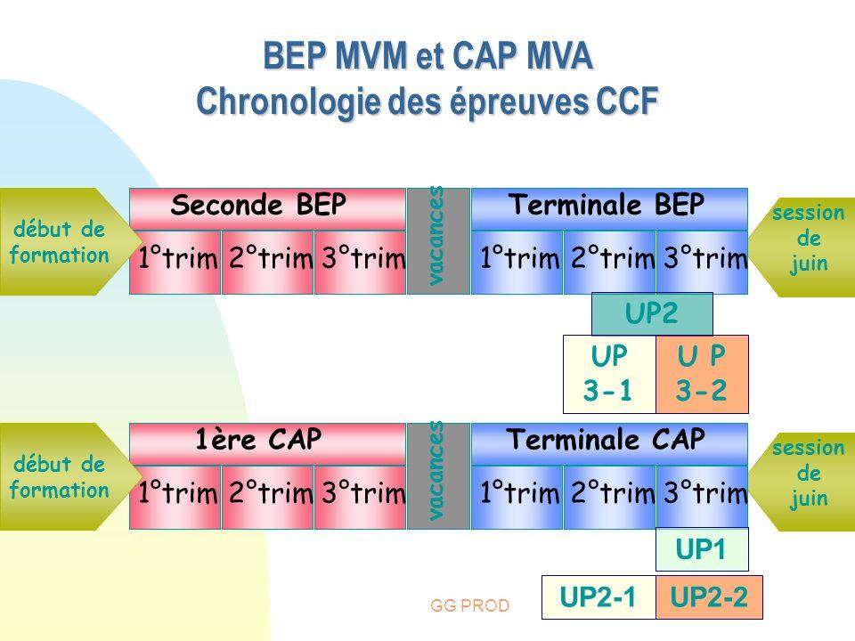 Chronologie des épreuves CCF