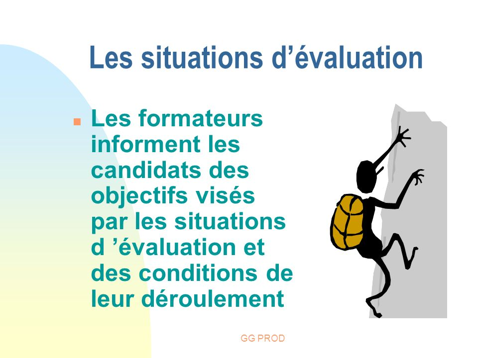 Les situations d'évaluation