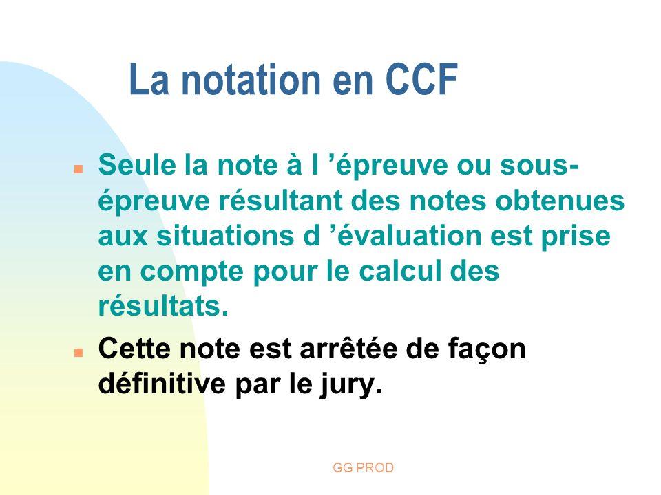 La notation en CCF