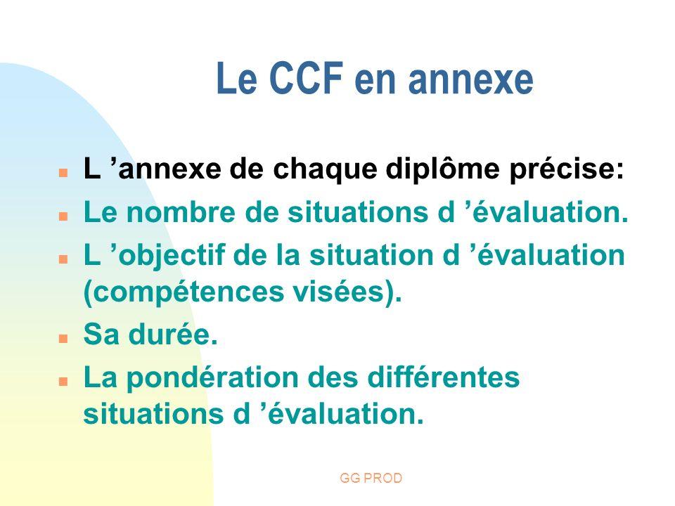 Le CCF en annexe L 'annexe de chaque diplôme précise: