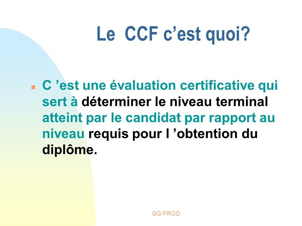 Le CCF c'est quoi