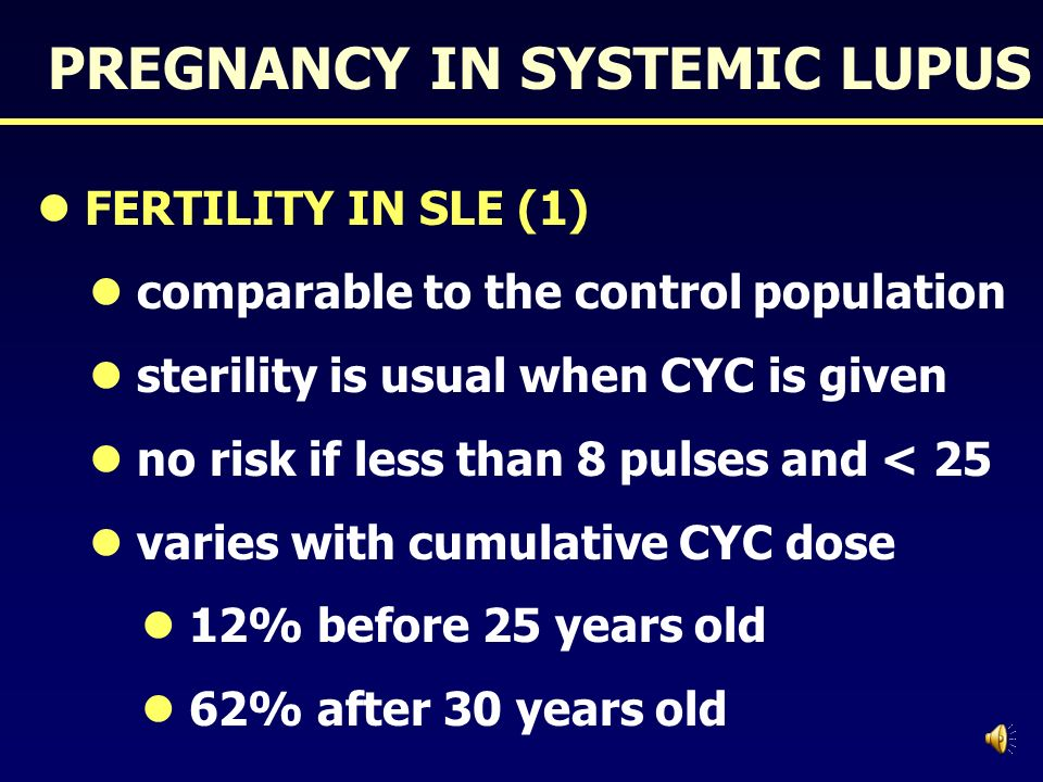 PREGNANCY IN SYSTEMIC LUPUS