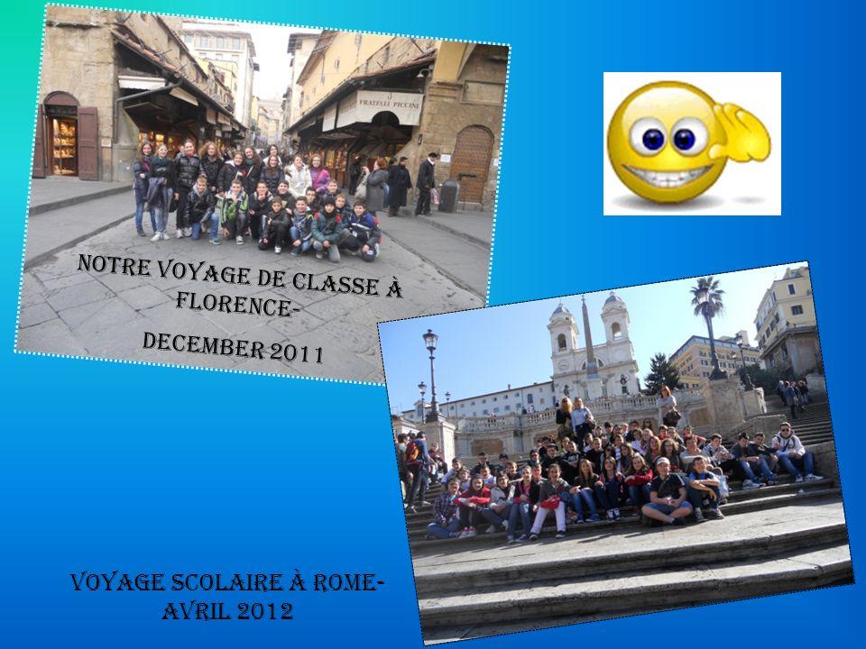 Notre voyage de classe à Florence- DECEMBER 2011