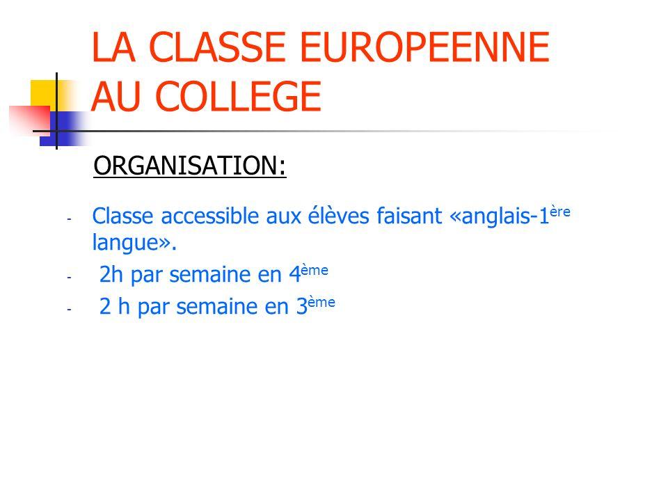 LA CLASSE EUROPEENNE AU COLLEGE