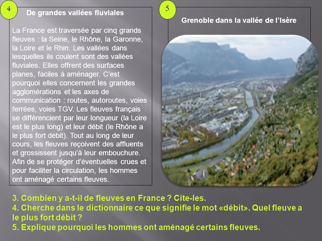 Grenoble dans la vallée de l'Isère