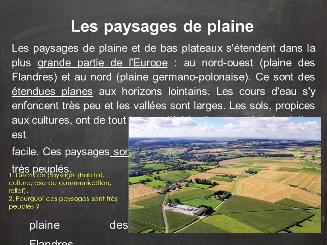 Les paysages de plaine plaine des Flandres