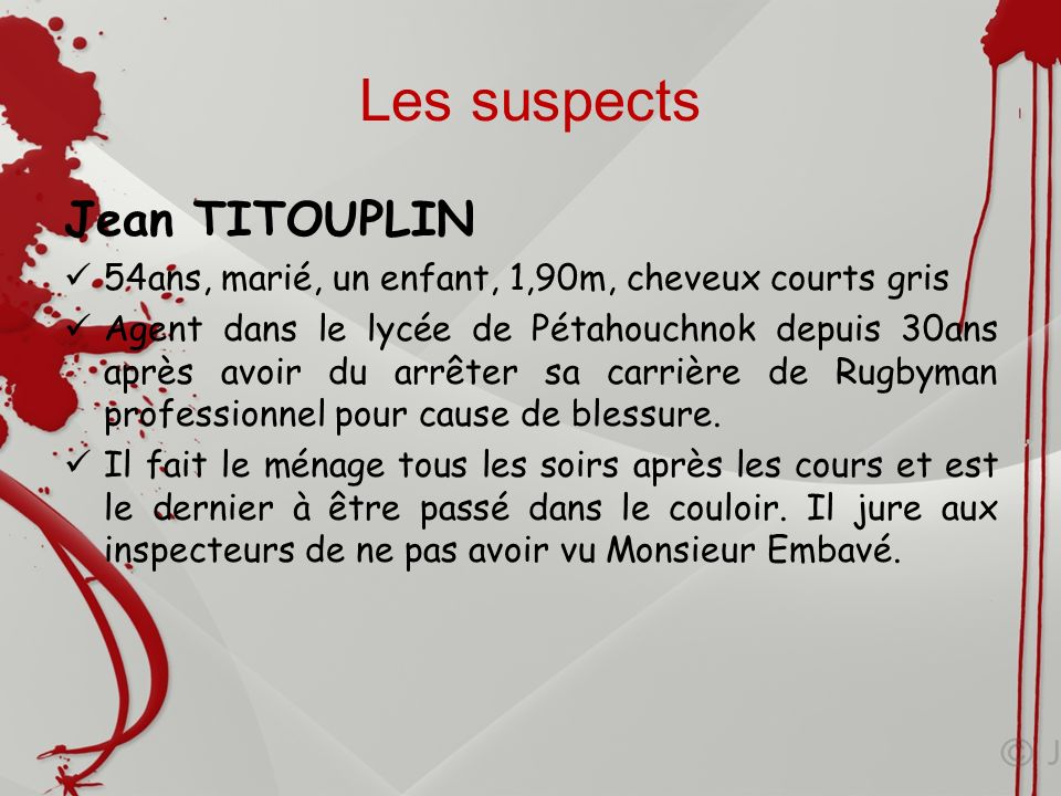 Les suspects Jean TITOUPLIN