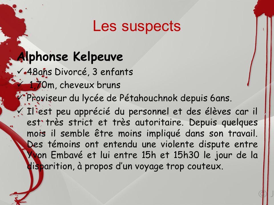 Les suspects Alphonse Kelpeuve 48ans Divorcé, 3 enfants
