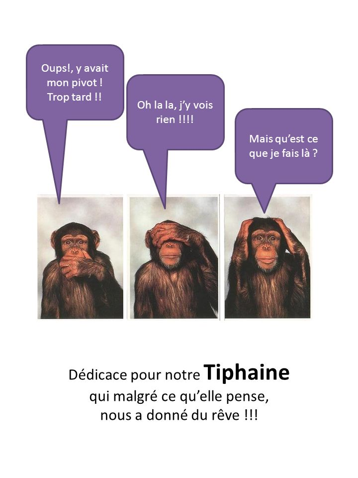 Dédicace pour notre Tiphaine qui malgré ce qu'elle pense,